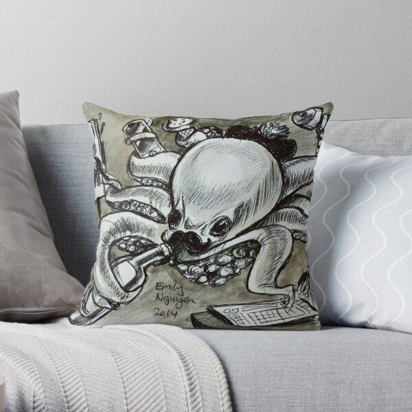 Multitasking Octopus Throw Pillow