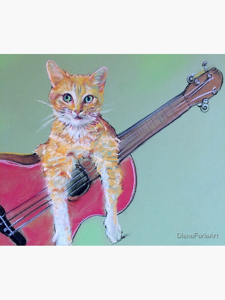 Ginger Cat & with Guitar by DianaFariaArt