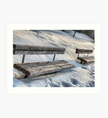 Empty Benches Art Print