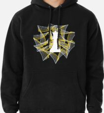 White Chess Queen on Powerful Charming Ribbon Pullover Hoodie