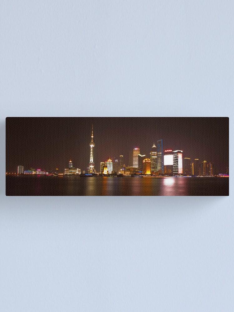 Alternate view of Shanghai City Lights Canvas Print