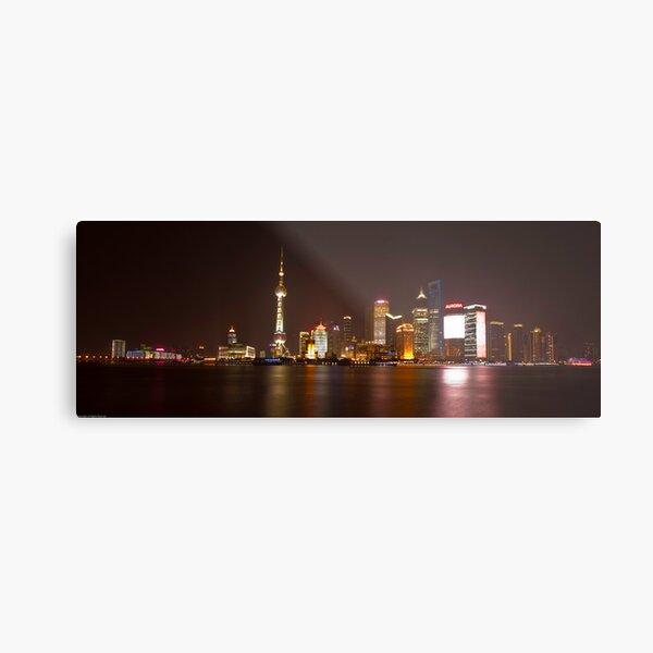 Shanghai City Lights Metal Print