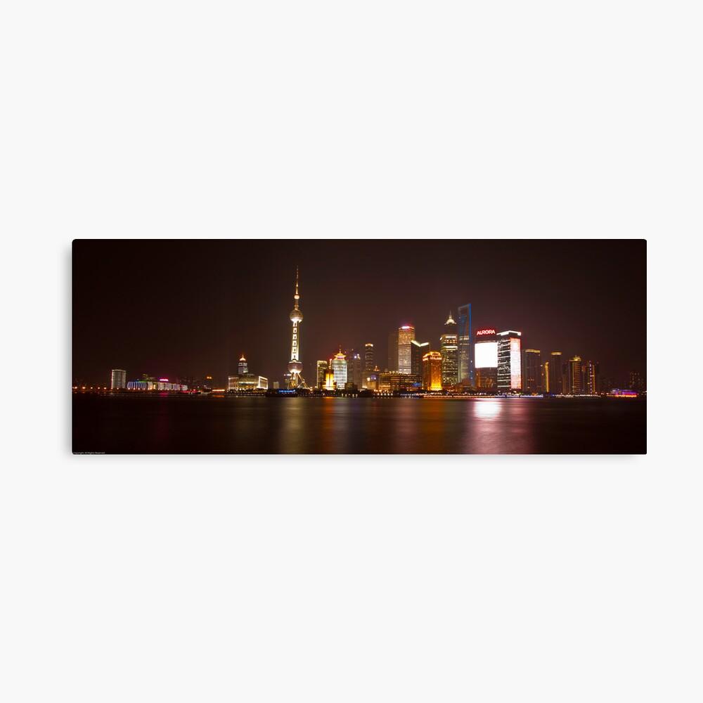 Shanghai City Lights Canvas Print