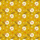 Herbstblumen und Pilz-Muster von jsongdesign