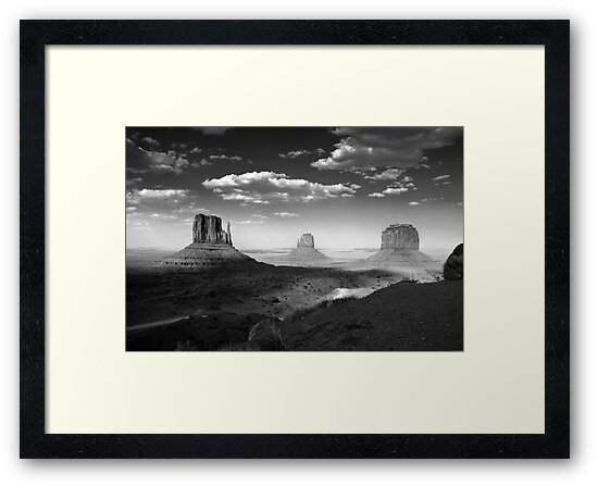 Monument Valley in Black & White  by Lucinda Walter