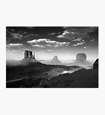 Monument Valley in Black & White  Photographic Print