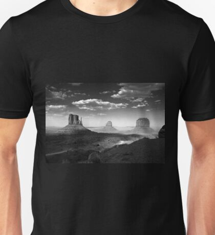 Monument Valley in Black & White  T-Shirt