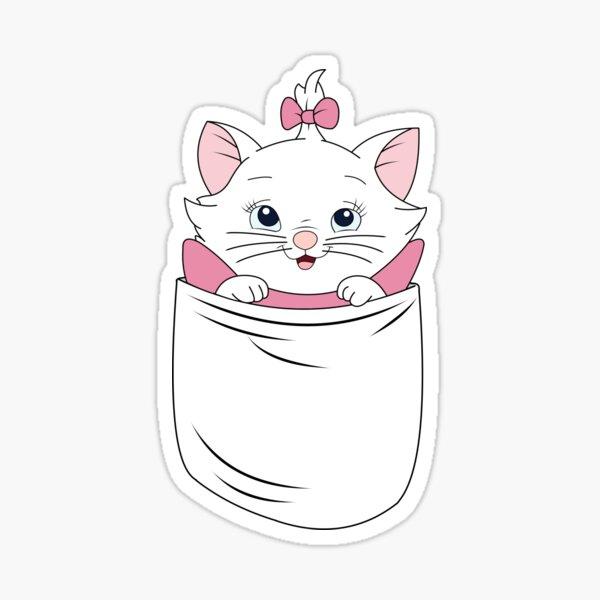 Un chat dans une poche Sticker