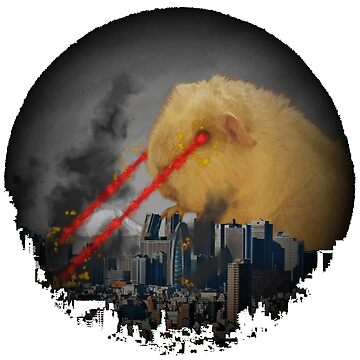 Guinea Pig Attacking Tokyo with Laser Eyes REDUX by GuyWithRedHair