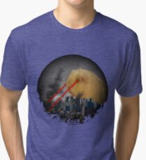 Guinea Pig Attacking Tokyo with Laser Eyes REDUX Tri-blend T-Shirt