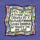 Quilt Quote I (blue) by Annie Mason