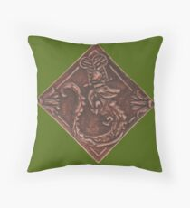 Sobek in Leather Throw Pillow