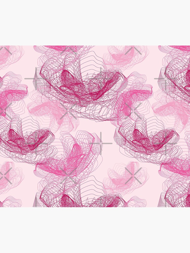 Feathery rose lotus pattern dark and blush pink by nobelbunt