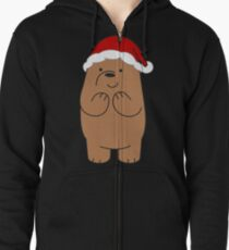 Grizzly Xmas Zipped Hoodie
