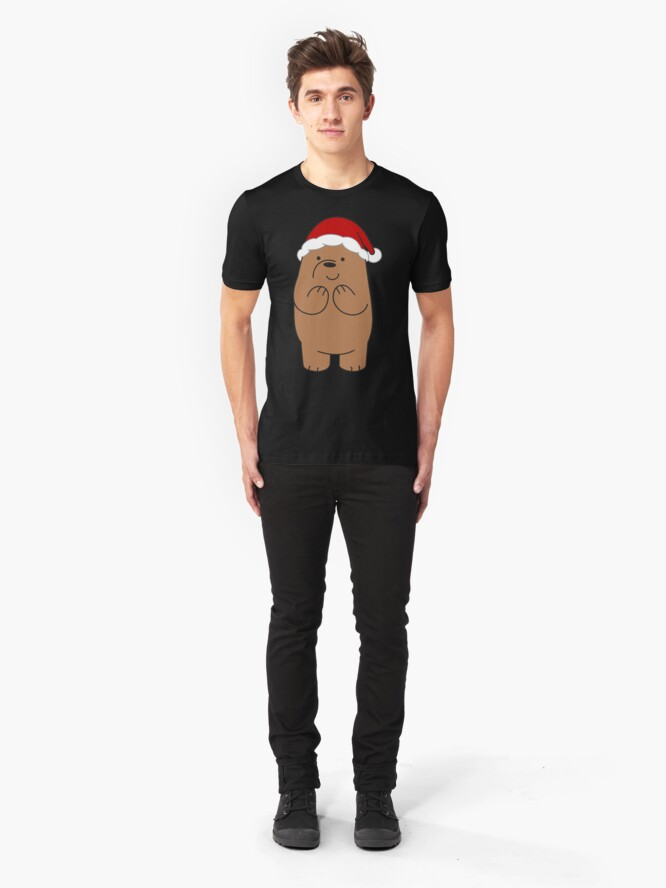 Alternate view of Grizzly Xmas Slim Fit T-Shirt