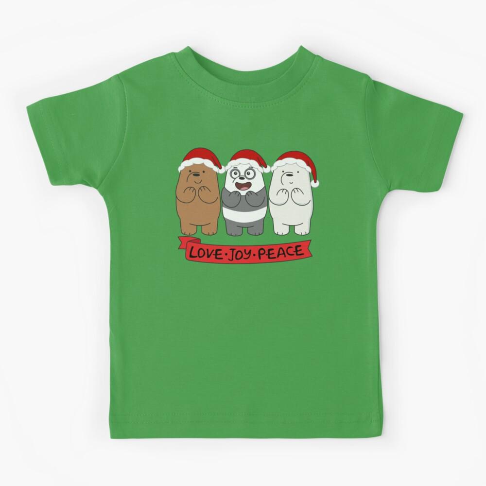 We Bare Bears Love Kids T-Shirt