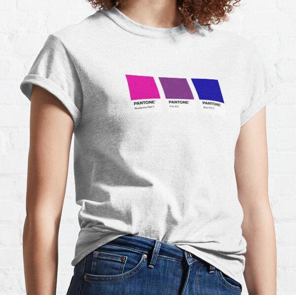orgullo pantone bisexual Camiseta clásica