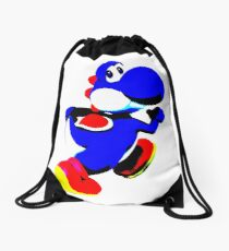 Blue Yoshi MInimalist Drawstring Bag