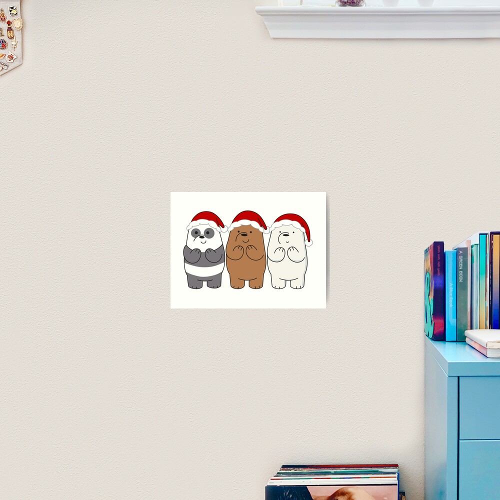 We Bare Bears Xmas Art Print