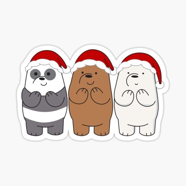 We Bare Bears Xmas Sticker