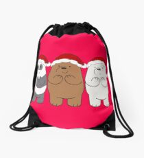 We Bare Bears Xmas Drawstring Bag