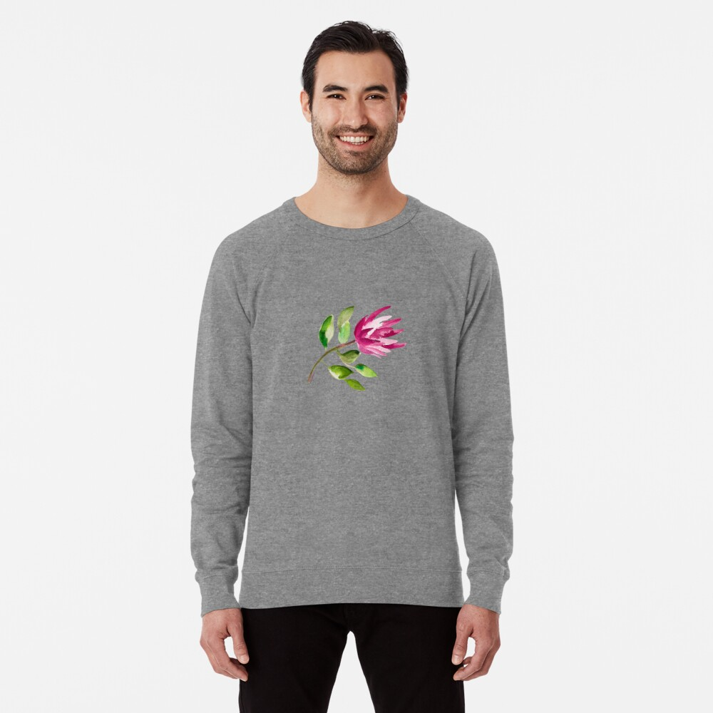 Protea Bloom Floral Lightweight Sweatshirt