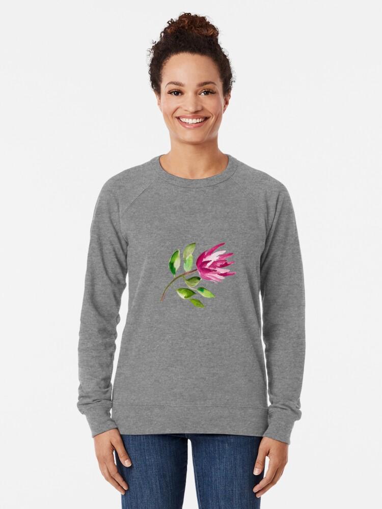 Alternate view of Protea Bloom Floral Lightweight Sweatshirt