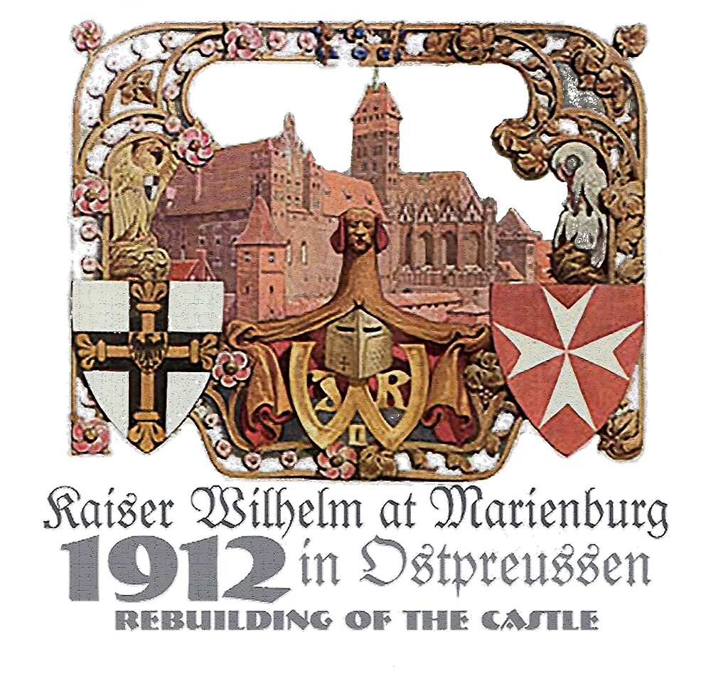 Kaiser Wilhelm at the Marienburg Castle in Ostpreussen by edsimoneit