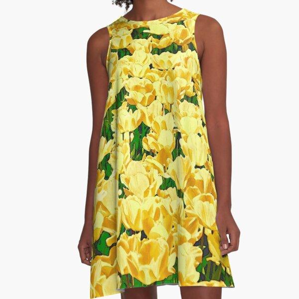 Tulip field - golden yellow A-Line Dress