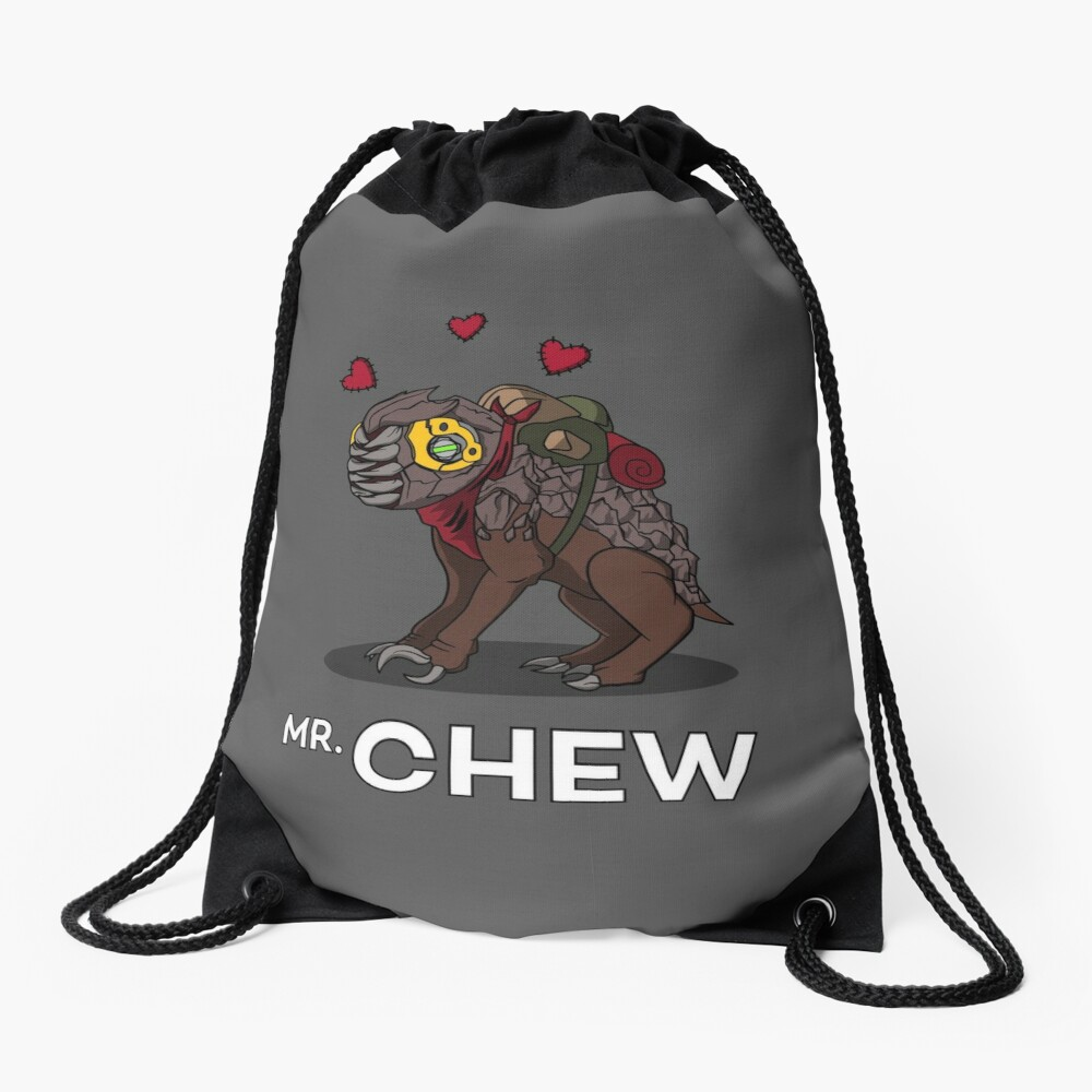 Mr, Chew Drawstring Bag