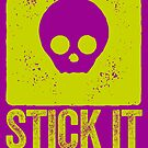 STICK IT TO THE MAN - SKULL MOTIF by Clifford Hayes