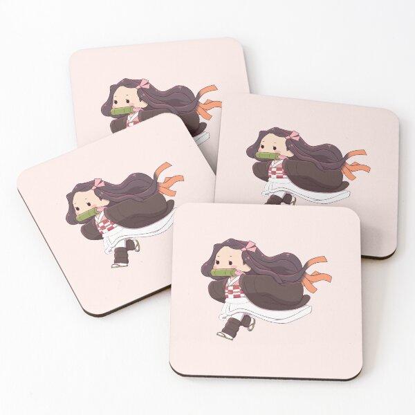Nezuko Runing Coasters (Set of 4)