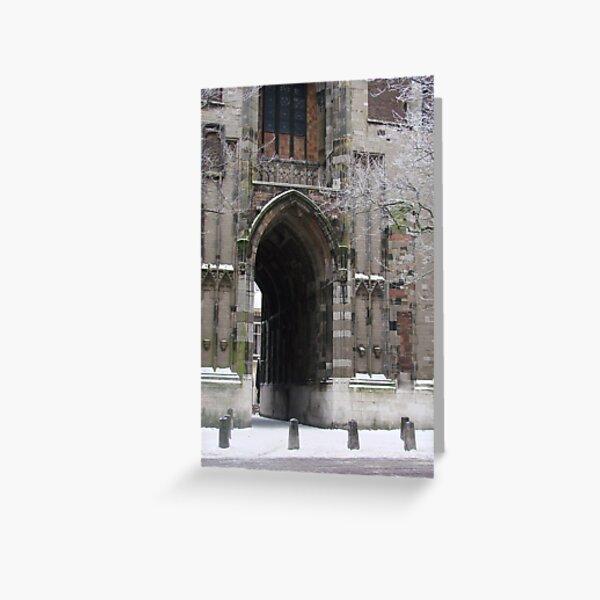 Fairytale Portal: Utrecht's Domtoren in Winter Greeting Card