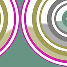 New System Two Circular Abstract Design by Jenny Meehan by Jenny Meehan