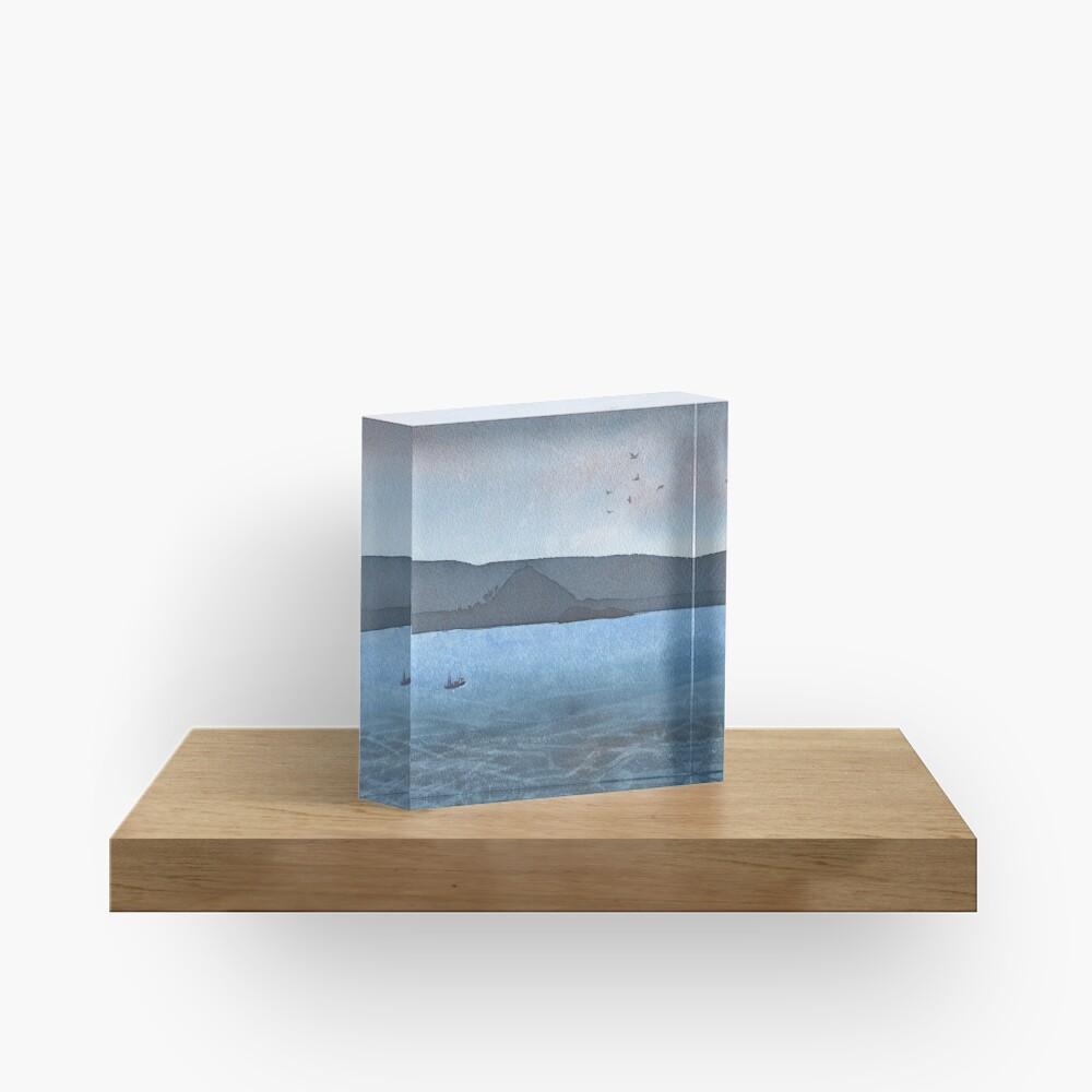 Berwick Law and Craig Leith, November 2018 Acrylic Block