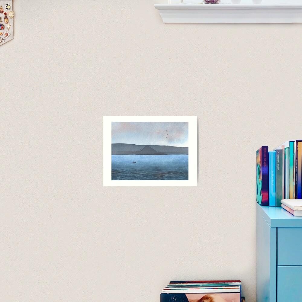 Berwick Law and Craig Leith, November 2018 Art Print
