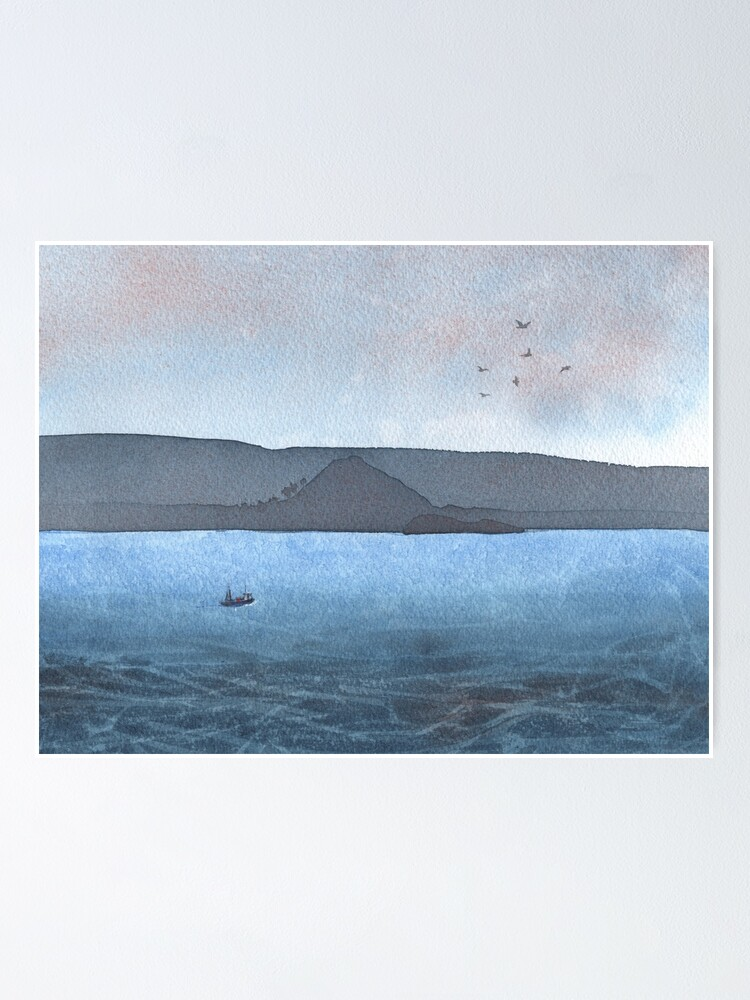 Alternate view of Berwick Law and Craig Leith, November 2018 Poster