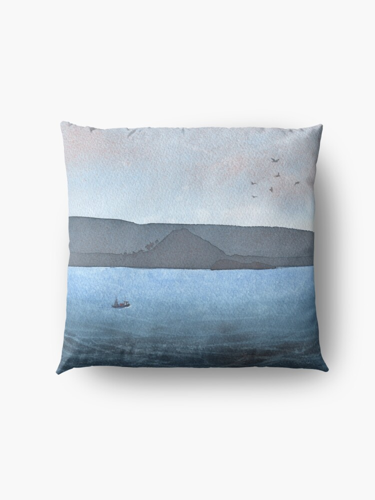 Alternate view of Berwick Law and Craig Leith, November 2018 Floor Pillow