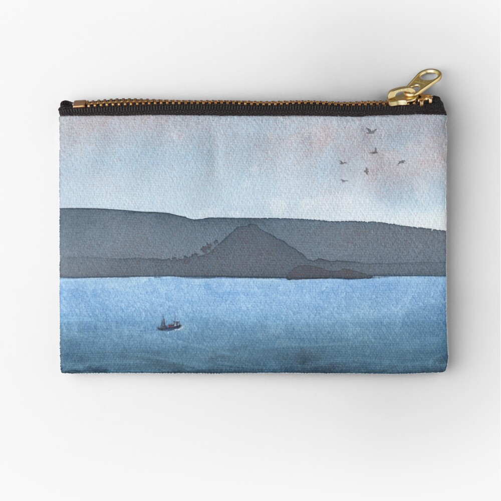 Berwick Law and Craig Leith, November 2018 Zipper Pouch