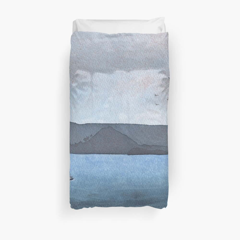 Berwick Law and Craig Leith, November 2018 Duvet Cover