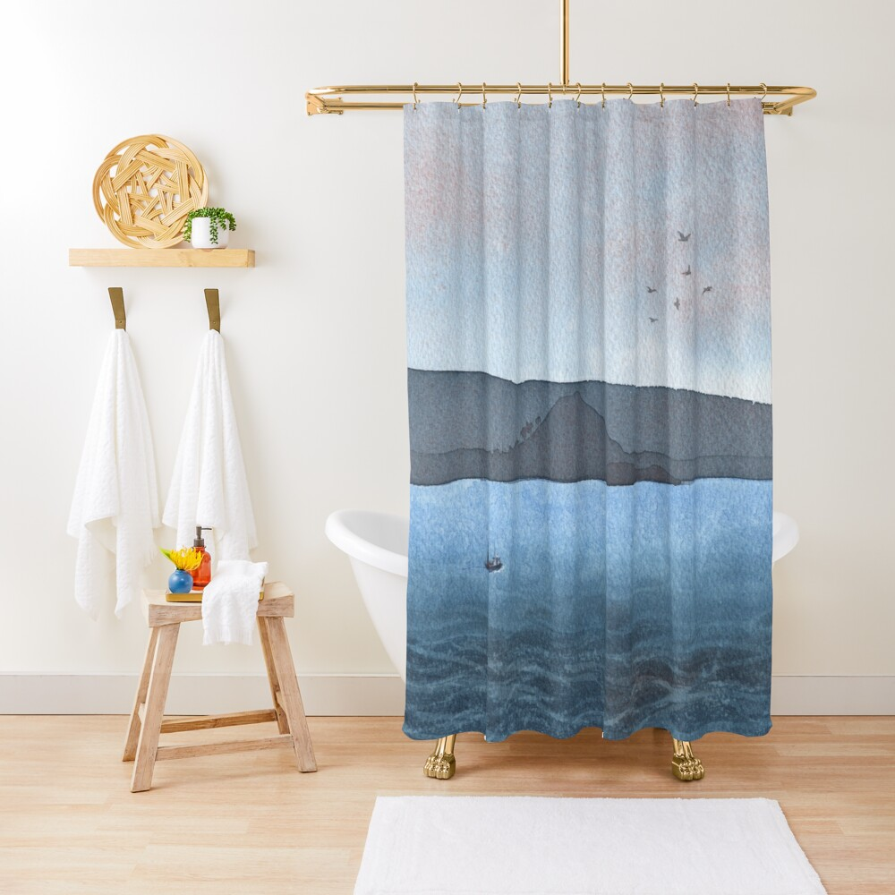 Berwick Law and Craig Leith, November 2018 Shower Curtain