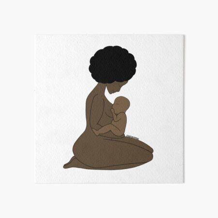 Breastfeeding Mother Art Board Print