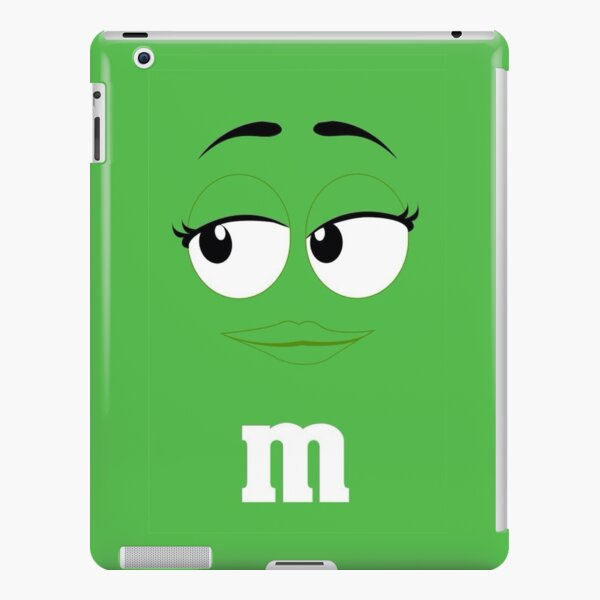 Green M&M Face iPad Snap Case