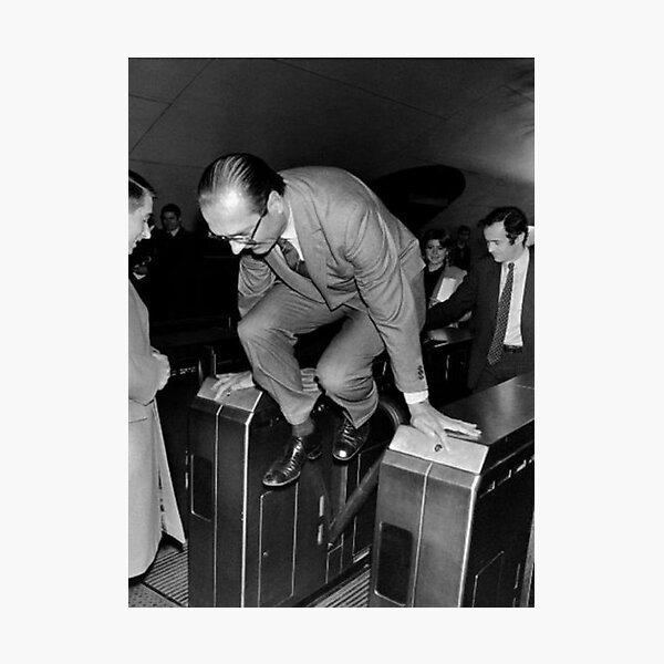 Jacques Chirac December 5, 1980 at the station Auber Photographic Print