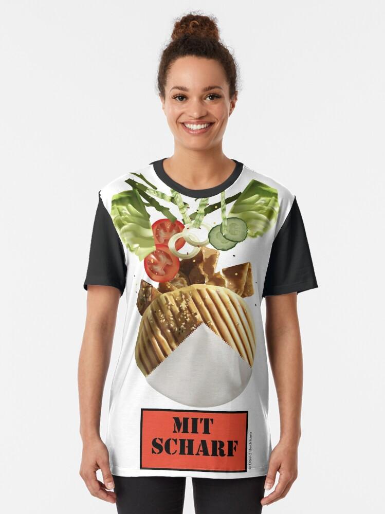 Alternate view of Döner Mit Scharf Graphic T-Shirt