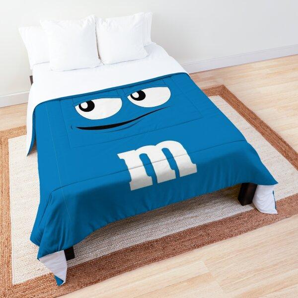 Blue M&M Face Comforter