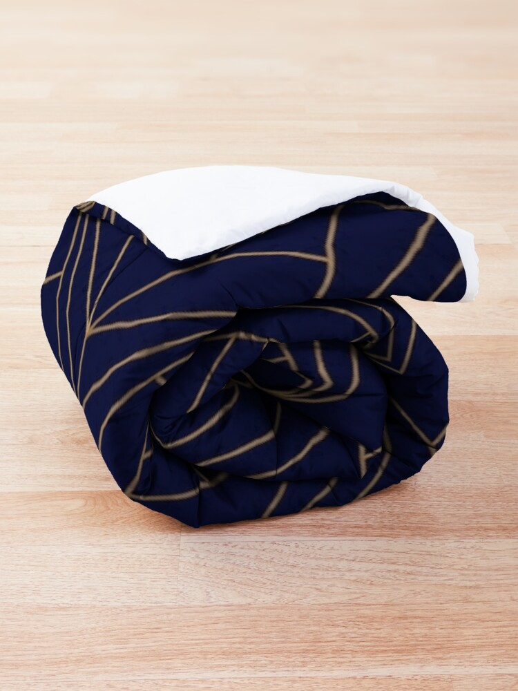 Alternate view of Navy Gold Geometric Pattern  Comforter