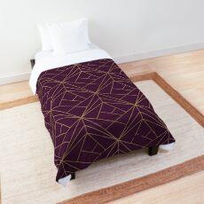 Purple and Gold Geometric Pattern  Comforter