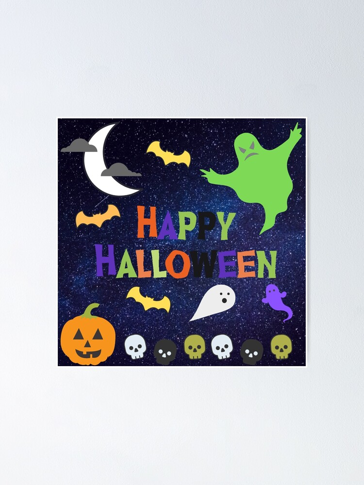 Alternate view of Ghostly Happy Halloween Poster
