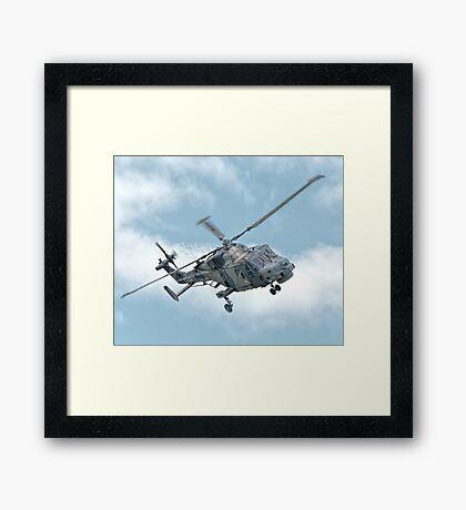 Royal Navy Black Cats Lynx Wildcat HMA2 Framed Print